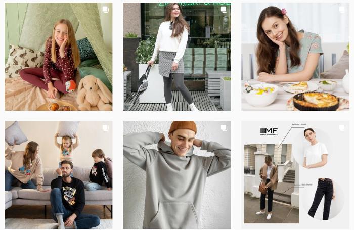 Аккаунт магазина одежды с разной аудиторией