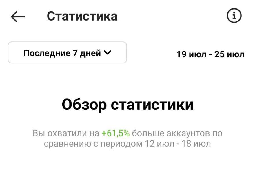 Меню Статистики