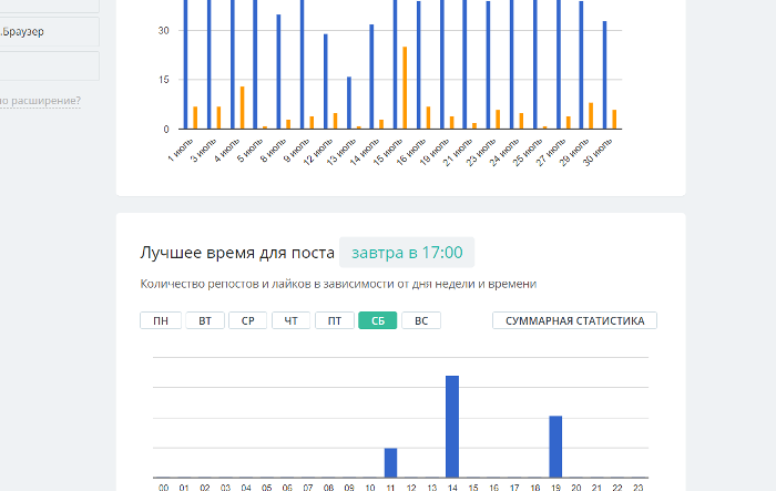 Просмотр статистики Инстаграм в SmmBox в один клик