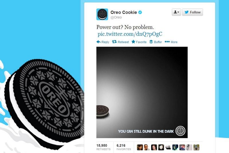 SMM событие Oreo Blackout tweet